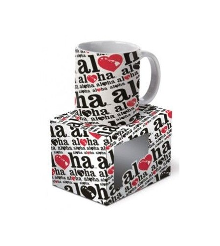 Mug  Heart of Hawai'i Black Red largeur 12cm
