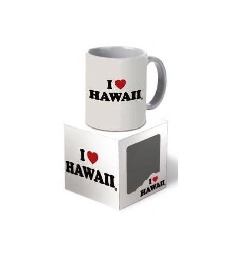 Mug i love hawaii white largeur 9,5cm