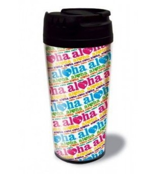 Travel tumbler Heart of Hawaii Techno White 20cm