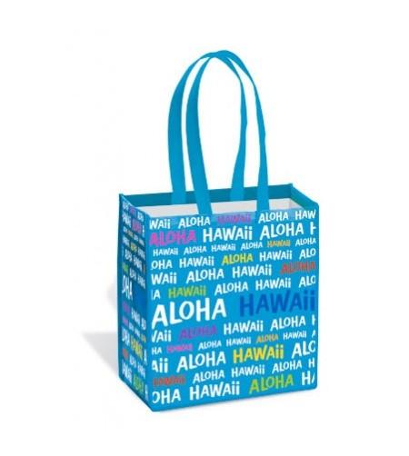 Sac Hawaii Aloha Blue Island Tote Small 33,5X32,5X19,5