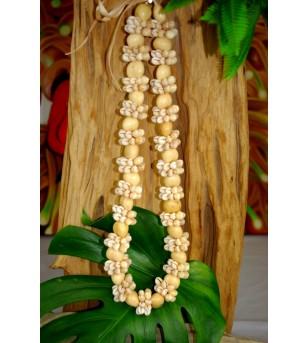 Collier Coquillages Cori Kukui Nut Beige  40 cm