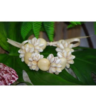 Bracelet Coquillages Cori Beige Kukui Nut Beige