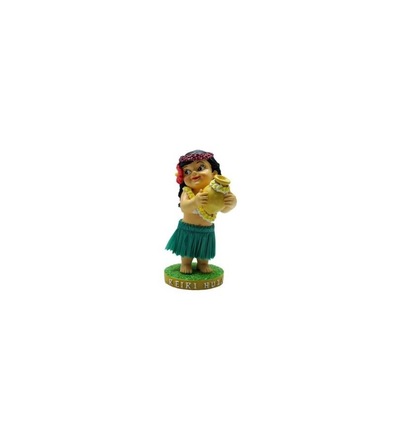 Miniature Dashboard Doll Keiki Hula  10X4.5
