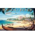 Magnet Waikiki Beach 8x5cm