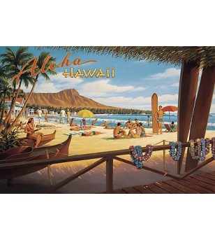 Magnet Aloha Hawaii 8x5cm