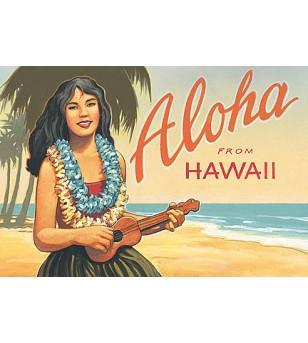 Magnet  Aloha from Hawaii 8x5cm