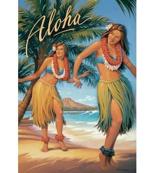 Magnet Aloha 8x5cm