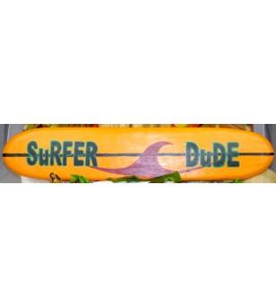 Planche longboard Bois D'albisia Surfer Dude 100X25