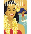 Carte Postale Delta Airlines Hawaii Bord Rond 14.5x10 cm
