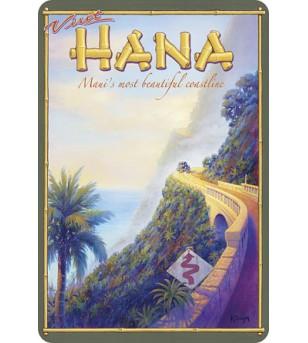 Carte Postale Visit Hana Hawaii Bord Rond 14.5x10 cm