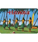 Carte Postale Hula Dancers Bord Rond 14.5x10 cm
