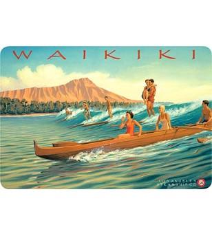 Carte Postale Waikiki Bord Rond 14.5x10 cm