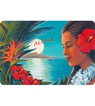Carte Postale Aloha Moonrise Bord Rond 14.5x10 cm