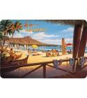 Carte Postale Aloha Hawaii Bord Rond 14.5x10 cm