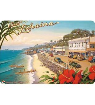 Carte Postale Visit Lahaina Bord Rond 14.5x10 cm