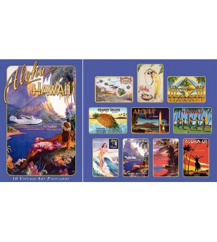 Boite 10 Cartes Postales Hawaiiana Collection 14.5x10 cm