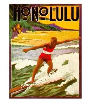 Poster Art Surfing, Tourist Booklet Numériser Haute qualité28x35 cm