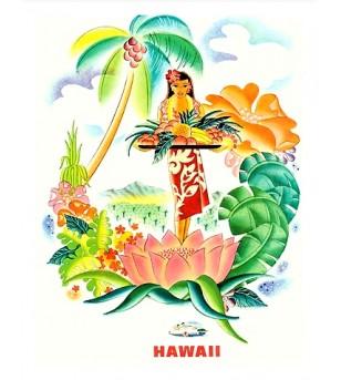 Poster ArtMatson, Tropical Abunda Numériser Haute qualité 28x35 cm