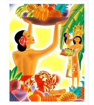Poster Art The Hawaiian Abundance Numériser Haute qualité 28x35 cm