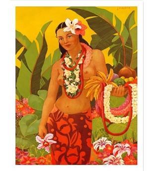 Poster Art Lei Vendor 45x30 cm