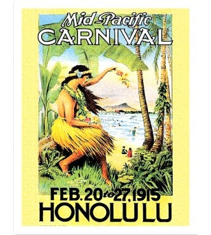 Poster Art Mid Pacific Carnival 45x30 cm