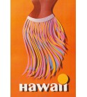 Magnet Pan Am Hawaii Hula Skirt 8x5cm