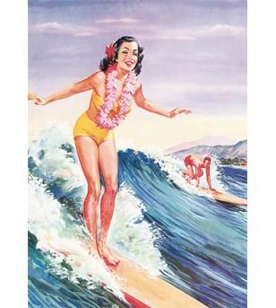 Magnet Libby's Surfer girl 8x5cm