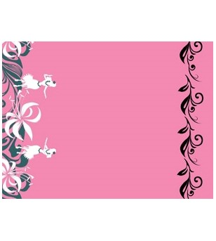 Tissu au Mètre  Hula Lei Rose  largeur 110 cm