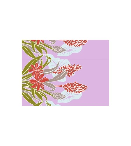 Tissu au Mètre Flower Paradise Puple largeur 110 cm