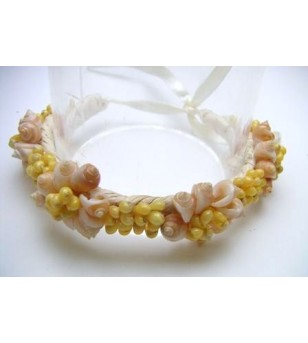 Bracelet Coquillage Raphia