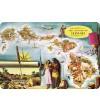 Carte Postale Map of the Hawaiian Islands Bord Rond 14.5x10 cm