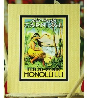 Cadre Déco Mid Pacific Carnival 1915 Fibre Naturelle 20X25 cm