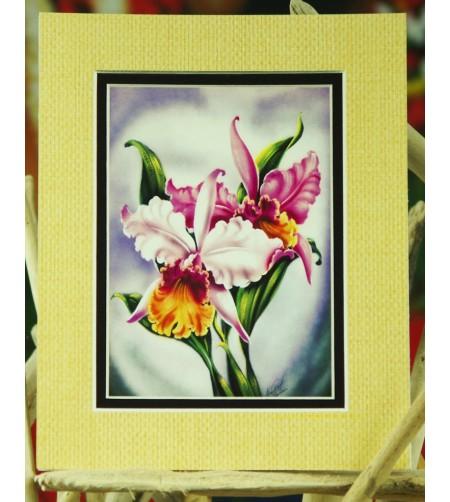 Cadre Déco Pink Orchid Fibre Naturelle 20X25 cm