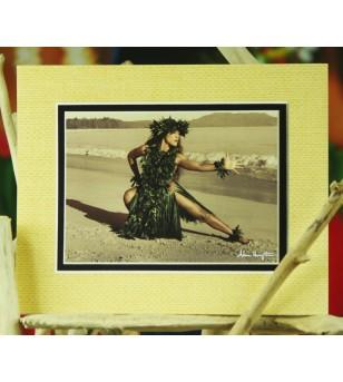 Cadre Déco Dance of the Turtle Fibre Naturelle 20X25 cm