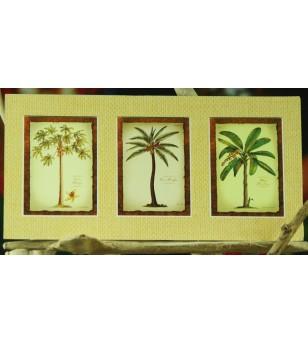 Cadre Déco Vintage Botanical Coll. Fibre Naturelle 15x30 cm