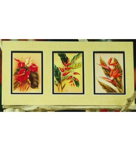 Cadre Déco Vintage Floral Collection Fibre Naturelle 15x30 cm