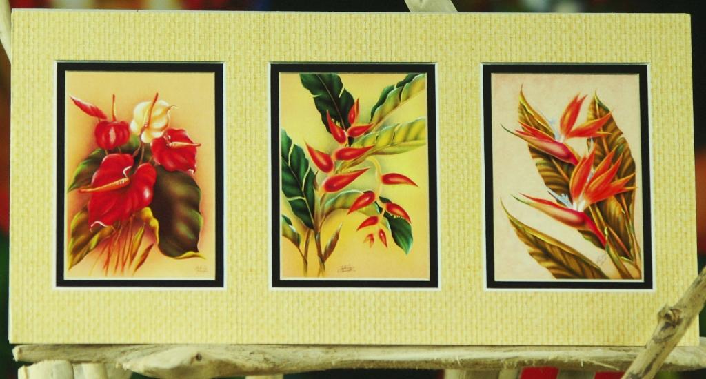 rouge-bleu de handgeschöpften Mûrier papier 5 cartes pliante 11,8 x 15,8 cm