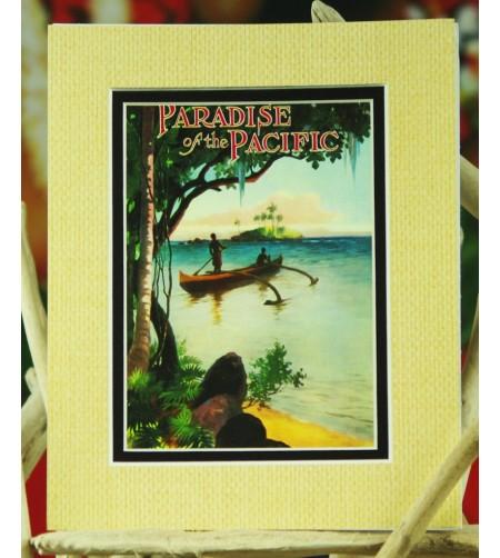 Cadre Déco Paradise of the Pacific  Fibre Naturelle 20X25 cm