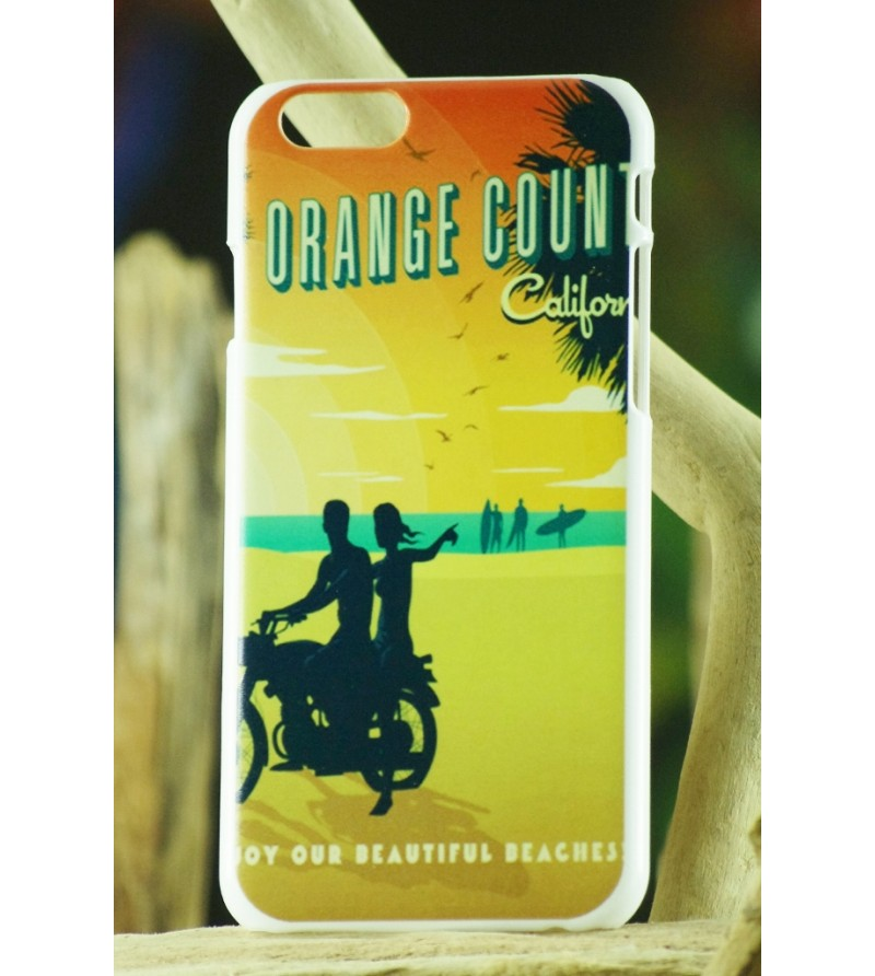 Coque Téléphone Portable Iphone Orange County 6, 6S