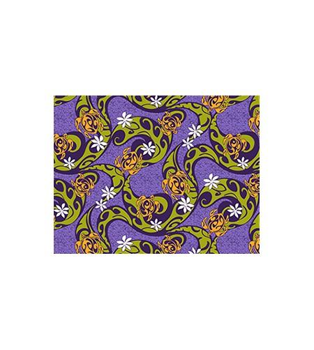 Tissu au Mètre Turtle Tiaré Violet 65% Polyester - 35% Cotton Largeur 110 cm