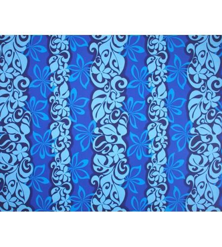 Tissu au Mètre Lei Bleu 65% Polyester - 35% Cotton Largeur 110 cm