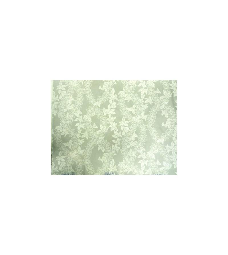tissu au m tre lei flower white 65 polyester 35 cotton largeur 110 cm esprit des iles. Black Bedroom Furniture Sets. Home Design Ideas