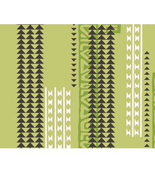 Tissu au Mètre Hawaii Vert 65% Polyester - 35% Cotton Largeur 110 cm