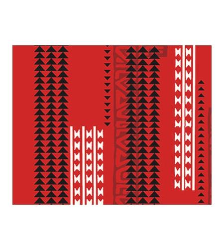 Tissu au Mètre Hawaii Rouge 65% Polyester - 35% Cotton Largeur 110 cm