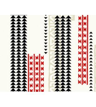 Tissu au Mètre Hawaii Blanc 65% Polyester - 35% Cotton Largeur 110 cm