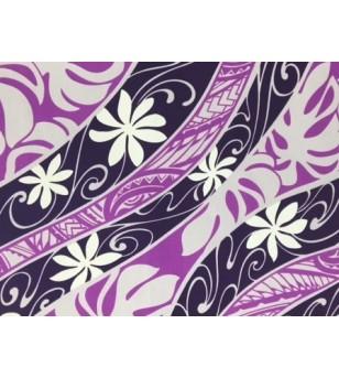 Tissu au Mètre Tiaré Psyché Violet 65% Polyester - 35% Cotton Largeur 110 cm