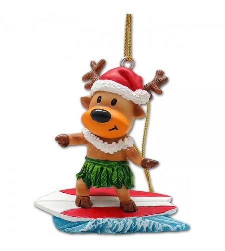 Déco Noel Surfing Reindeer UNIQUEMENT SUR COMMANDE LIVRAISON DEBUT DECEMBRE