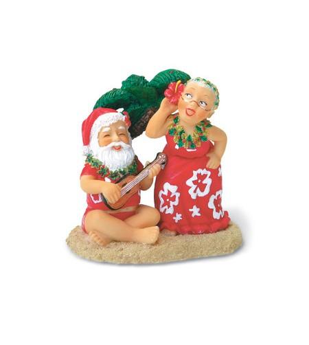 Déco Noel Santa & Dancing Mrs Claus 6.5*6.5 UNIQUEMENT SUR COMMANDE LIVRAISON DEBUT DECEMBRE