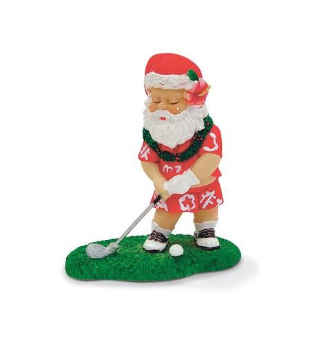 Déco Noel Golfing Santa 6.5*6.5 UNIQUEMENT SUR COMMANDE LIVRAISON DEBUT DECEMBRE