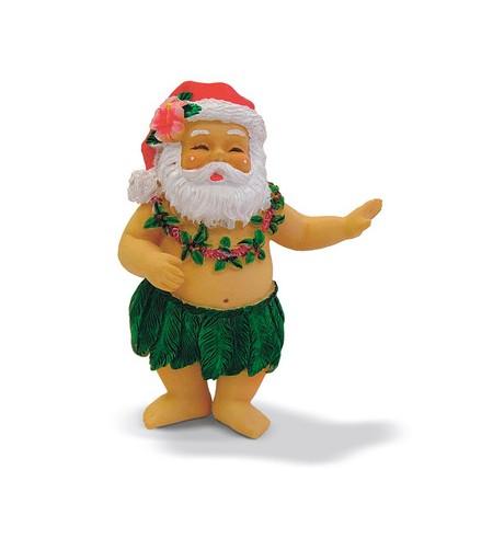 Déco Noel Hula Santa 6.5*6.5 UNIQUEMENT SUR COMMANDE LIVRAISON DEBUT DECEMBRE